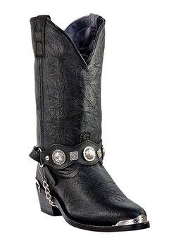 Dingo 12' Concho Western Boots, BLACK, hi-res
