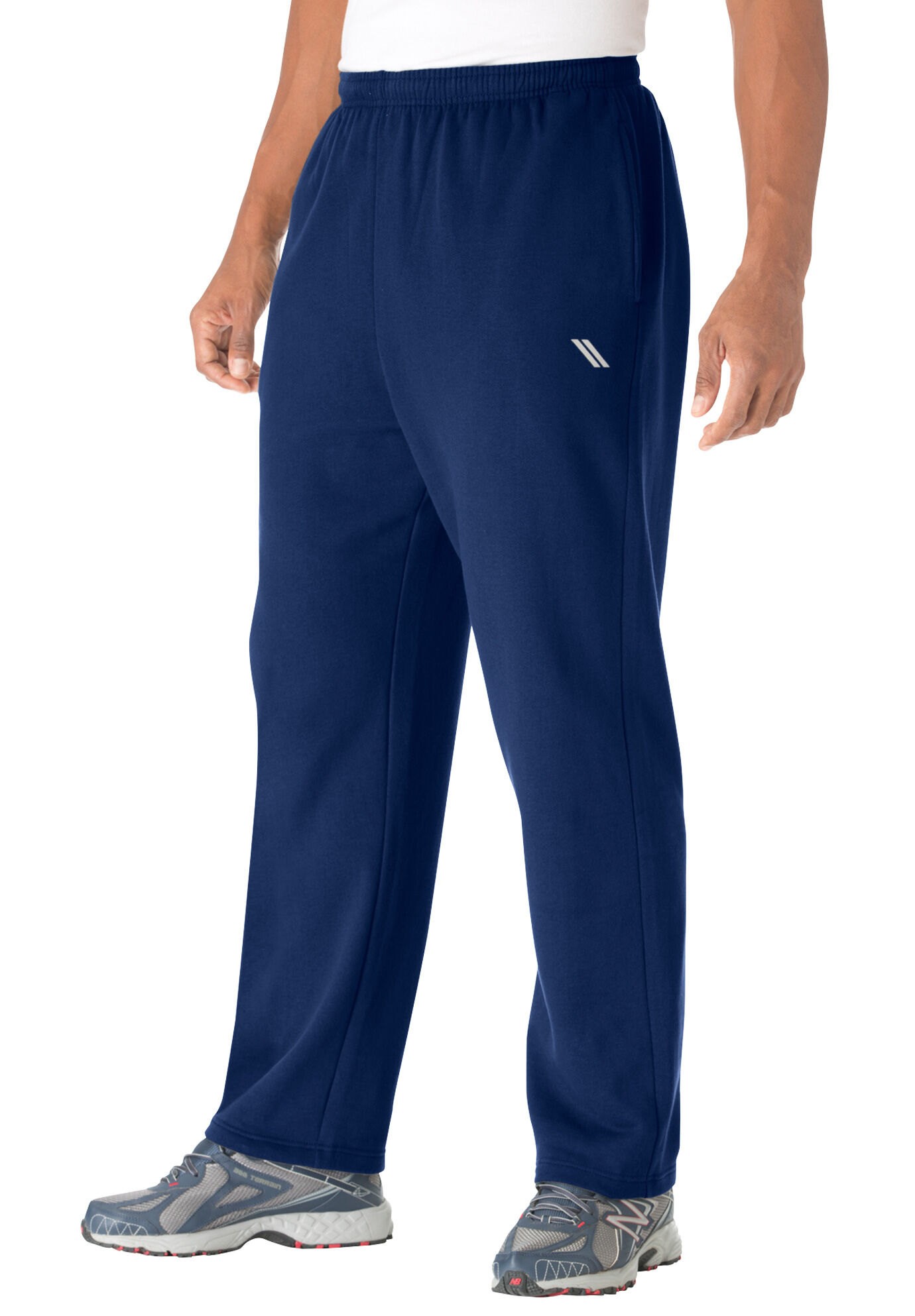 fa4f232da94 Ks Sport Mens Big    Tall Wicking Fleece Crewneck Sweatshirt ...