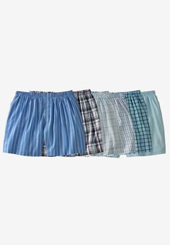 Woven Boxers 6 Pack, ASSORTED COLORS, hi-res