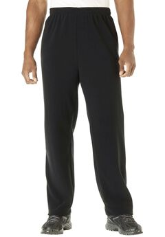 Explorer Fleece Open-Bottom Sweatpants, BLACK, hi-res