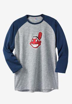 MLB® Cooperstown Raglan Tee, INDIANS, hi-res