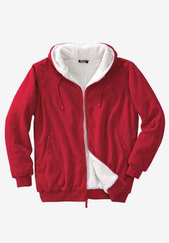 Explorer Fleece Full-Zip Hoodie, RED