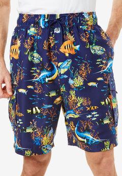 Printed Cargo Swim Shorts by KS Island™,