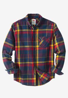 Dortmund Twill Flannel Shirt by Levi's®, DRESS BLUE, hi-res