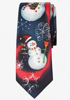 Novelty Holiday Tie, SNOWMAN