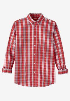 Wrinkle-Resistant Plaid Shirt, RED APPLE PLAID, hi-res
