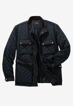 Quilted Jacket by Boulder Creek®, BLACK, hi-res