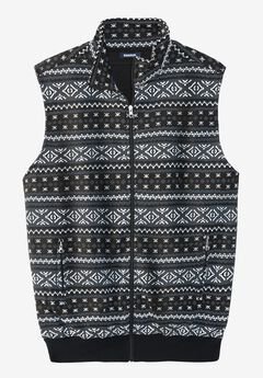 Fleece Zip-Up Sweater Vest,