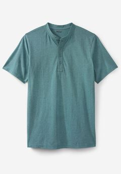 Shrink-Less™ Lightweight Henley Tee,