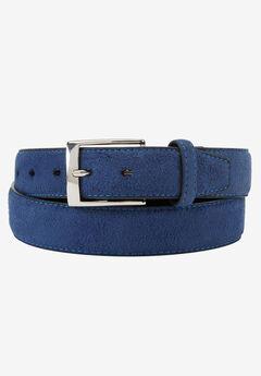 Suede Belt , BLUE, hi-res