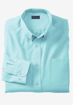 Wrinkle-Resistant Oxford Dress Shirt by KS Signature, LIGHT TEAL