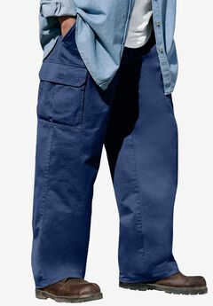 Renegade Cargo Pants with Side Elastic by Boulder Creek®, NAVY
