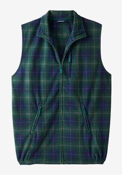 Explorer Fleece Zip Vest, HUNTER PLAID