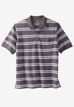 Classic Fit Stretch Polo by Liberty Blues®, STEEL STRIPE