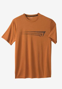 Logo Graphic Tee by Copper Fit™, COPPER HEATHER, hi-res