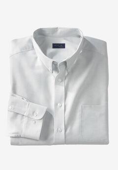 Wrinkle-Resistant Oxford Dress Shirt by KS Signature, LIGHT GREY