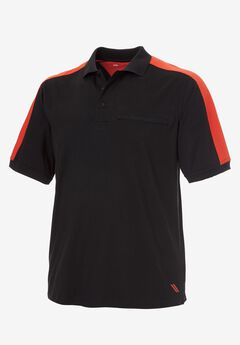 Short-Sleeve Wicking Polo by KS Sport™, BLACK, hi-res