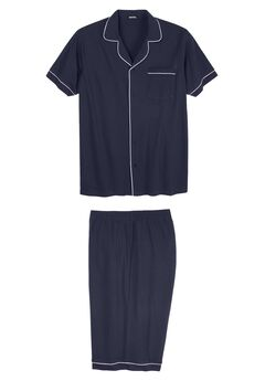 Short Sleeve Pajama Set, NAVY, hi-res