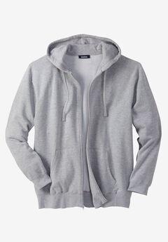 Fleece Zip-Front Hoodie,