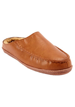 Fur-Lined Clog Slippers,