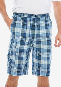 Canyon Cargo Shorts, BLUE HARBOR PLAID, hi-res