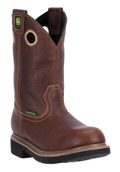 John Deere® 11' All Around Waterproof Pull-On Soft Toe, TOASTED WHEAT, hi-res