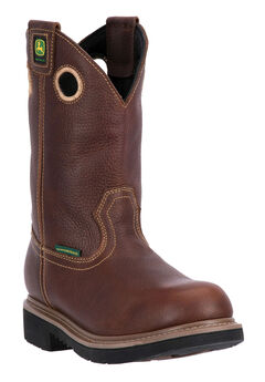 John Deere® 11' All Around Waterproof Pull-On Steel Toe, TOASTED WHEAT, hi-res