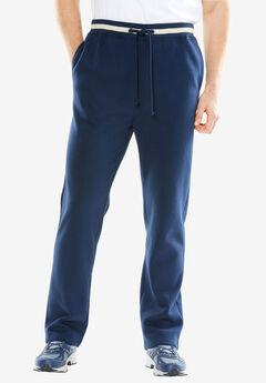 KingSize Coaches Collection Fleece Open Bottom Pants,