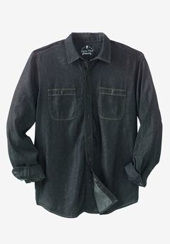 Long-Sleeve Utility Shirt by Liberty Blues®, BLACK DENIM