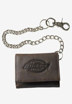 Leather Trifold Wallet with Chain by Dickies®,