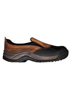 Propét® Blizzard Leather Slip-on Shoe, BROWN BLACK, hi-res