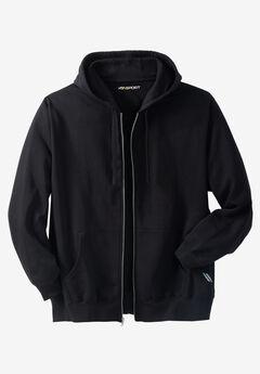 Wicking Fleece Zip Hoodie by KS Sport™ , BLACK, hi-res