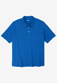 Shrink-Less™  Lightweight Short-Sleeve Polo Tee, ROYAL BLUE