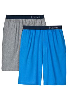 Hanes® 2-Pack Knit Sleep Shorts,