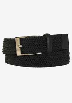Elastic Braid Belt, BLACK