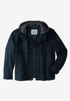 Hooded Trucker Jacket by Levis®, NAVY