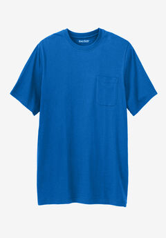 Shrink-Less™ Lightweight Longer-Length Crewneck Pocket Tee,