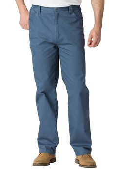 Relaxed Fit 5-Pocket Stretch Jeans by Liberty Blues®, BLUE INDIGO