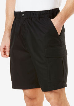 Moisture Wicking Cargo Shorts, BLACK, hi-res
