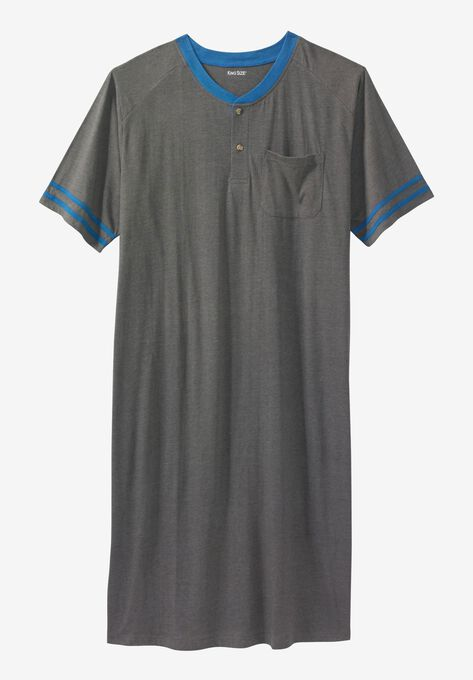 Short-Sleeve Henley Nightshirt  ada47040a
