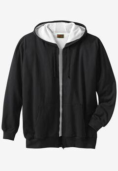 Thermal Lined Full-Zip Hoodie by Boulder Creek®, BLACK, hi-res