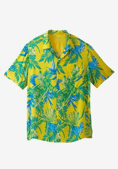Tropical Caribbean Print Shirt by KS Island™, PARADISE, hi-res