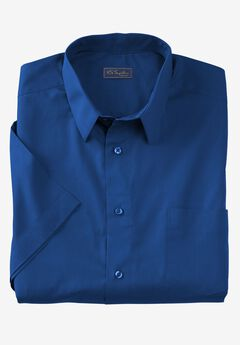 No Hassle® Short-Sleeve Dress Shirt by KS Signature®, MIDNIGHT NAVY, hi-res