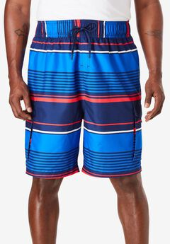 Printed Cargo Swim Shorts by KS Island™,