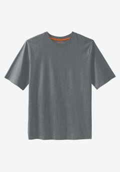 Heavyweight Crewneck Tee by Boulder Creek®, STEEL, hi-res