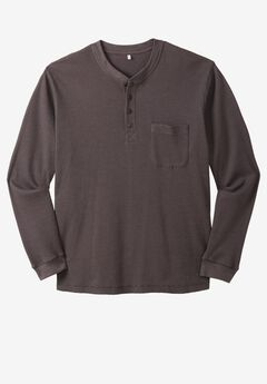 Easy-Care Pocket Longer-Length Henley by Boulder Creek®,