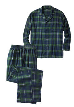 Plaid Flannel Pajama Set,