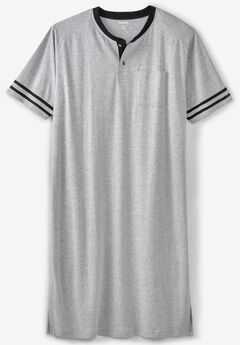 short sleeve henley nightshirt