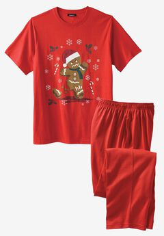 Holiday Pajama Set, ANGRY GINGERBREAD