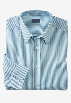 Classic Fit Broadcloth Flex Long-Sleeve Dress Shirt by KS Signature, BLUE STRIPE
